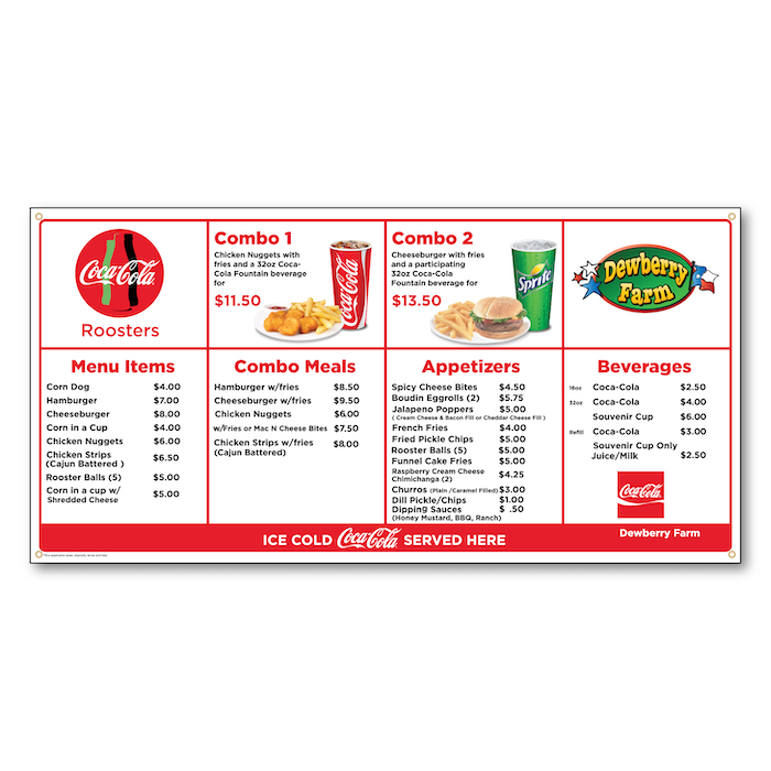 """<h4 style=""""text-align: center;"""">Menu Boards</h4>"""