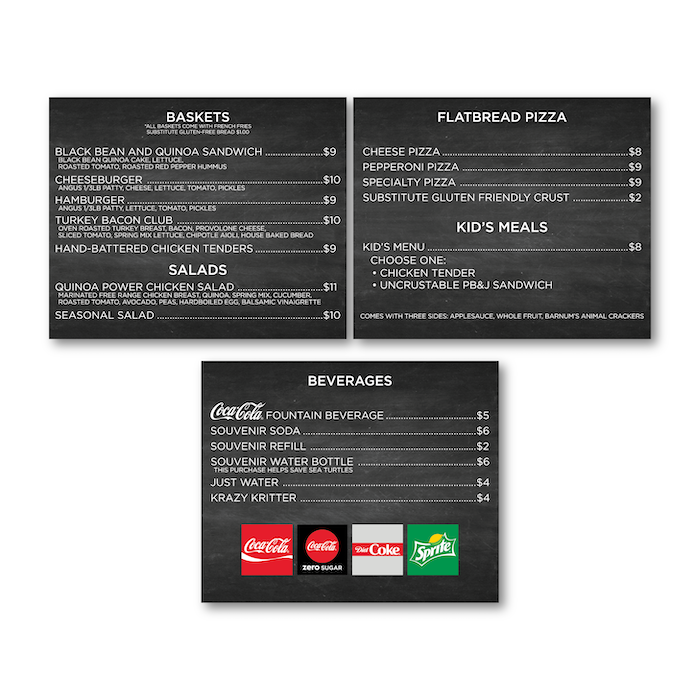"<h4 style=""text-align: center;"">Interior Menu Boards</h4>"