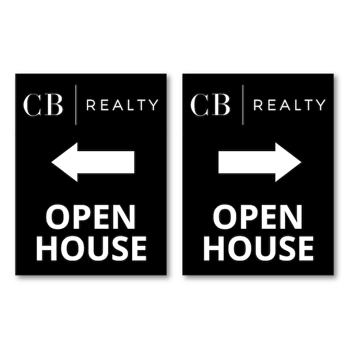 "<h4 style=""text-align: center;"">Open House Signs</h4>"