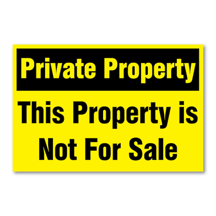 "<h4 style=""text-align: center;"">Private Property Signs</h4>"