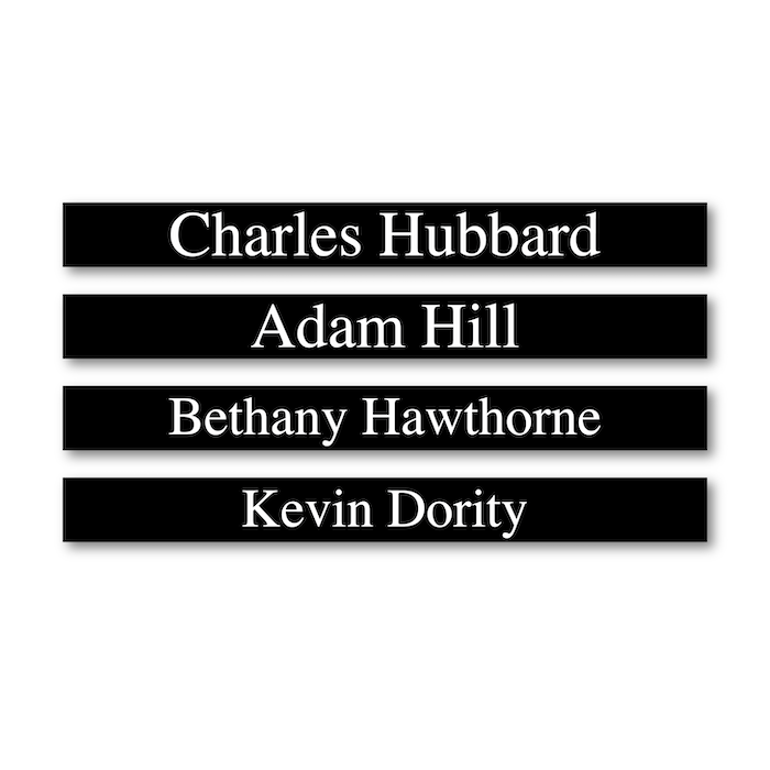 """<h4 style=""""text-align: center;"""">Engraved Name Plates<br>With Frames</h4>"""