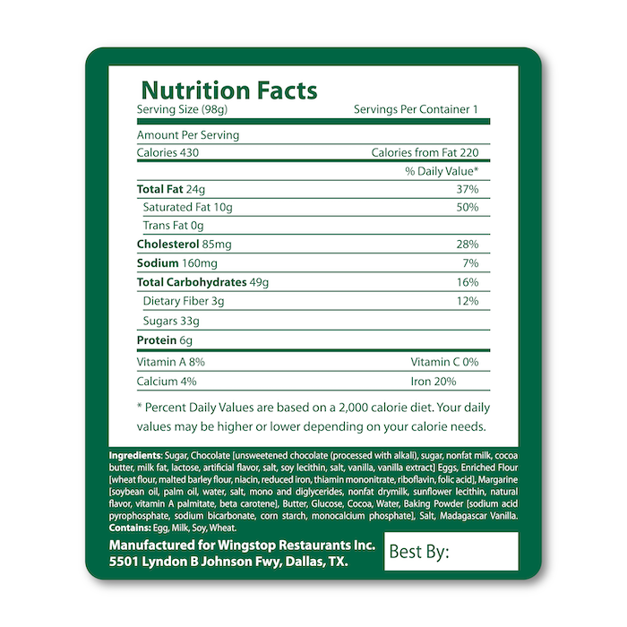 "<h4 style=""text-align: center;"">Nutritional Information Labels</h4>"